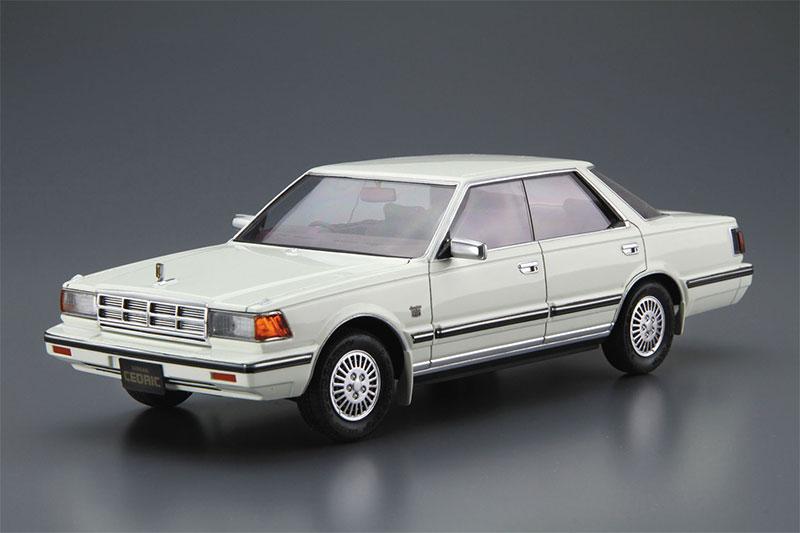 アオシマ プラモデル 1/24 ザ・モデルカー No.58 ニッサン Y30 セドリック/グロリア4HT V30EブロアムVIP '83