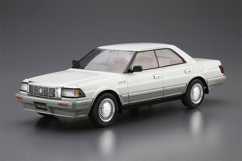 アオシマ プラモデル 1/24 ザ・モデルカー No.87 トヨタ UZS131 クラウン ロイヤルサルーンG '89