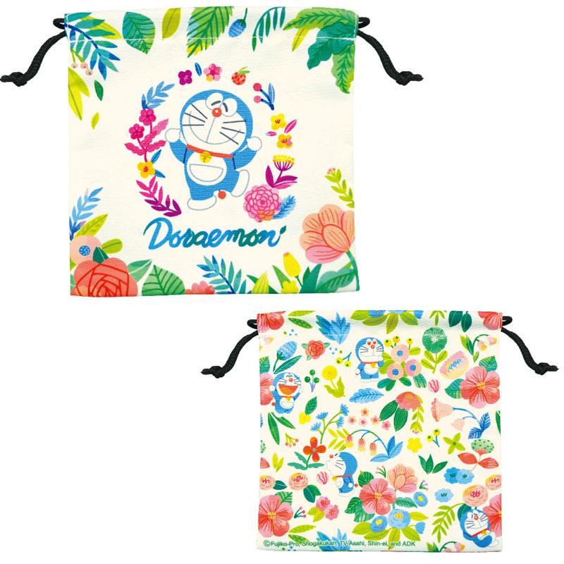【ネコポス送料無料】 ドラえもん 巾着袋 2枚セット ボタニカルセット 【代引き不可、他商品との同梱不可】