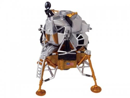 アオシマ 4D VISION 立体パズル No.7 1/100 アポロ月着陸船