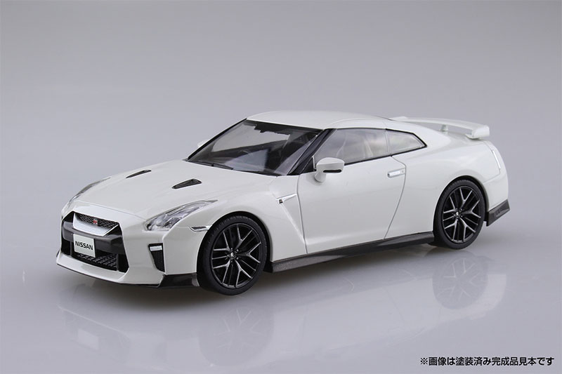 アオシマ プラモデル 1/32 ザ・スナップキット No.7-B ニッサン NISSAN GT-R ブリリアントホワイトパール