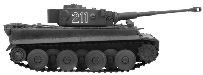 アオシマ スカイネット 1/72 R/C VSタンク タイガーI (ID1) VS M4 シャーマン (ID4)