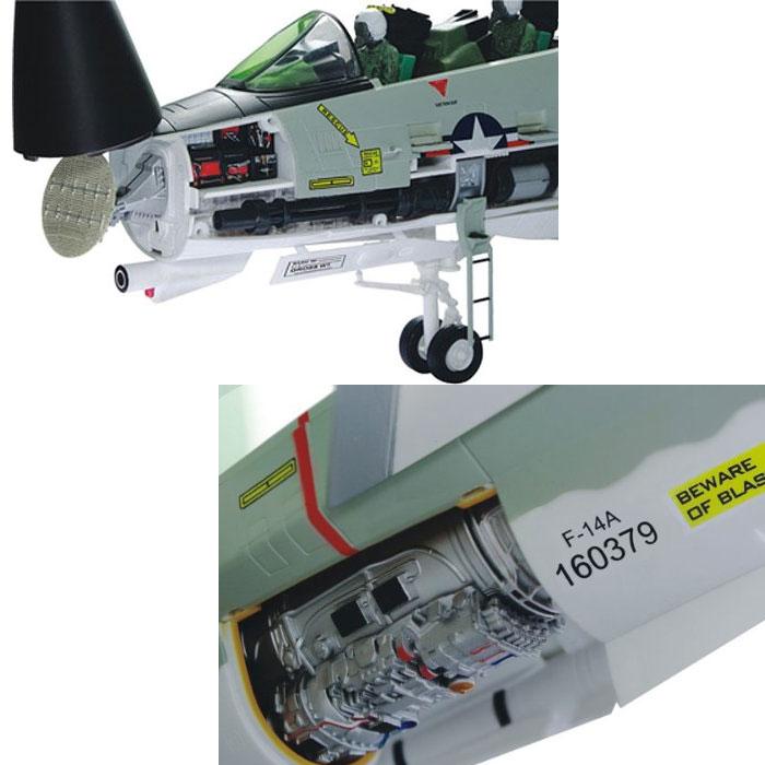 アオシマ 立体パズル 4D VISION ビークルカットモデル F-14A トムキャット戦闘機 ブラックエース