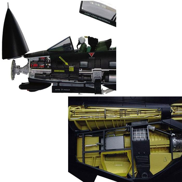 アオシマ 立体パズル 4D VISION ビークルカットモデル F-14Dトムキャット戦闘機 VX-9バンパイアーズ