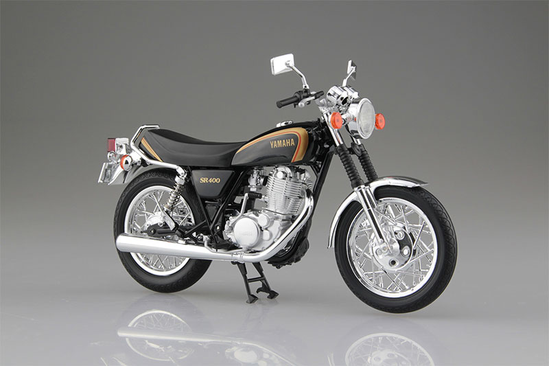 SKYNET 1/12 完成品バイク YAMAHA SR400 ブラックゴールド