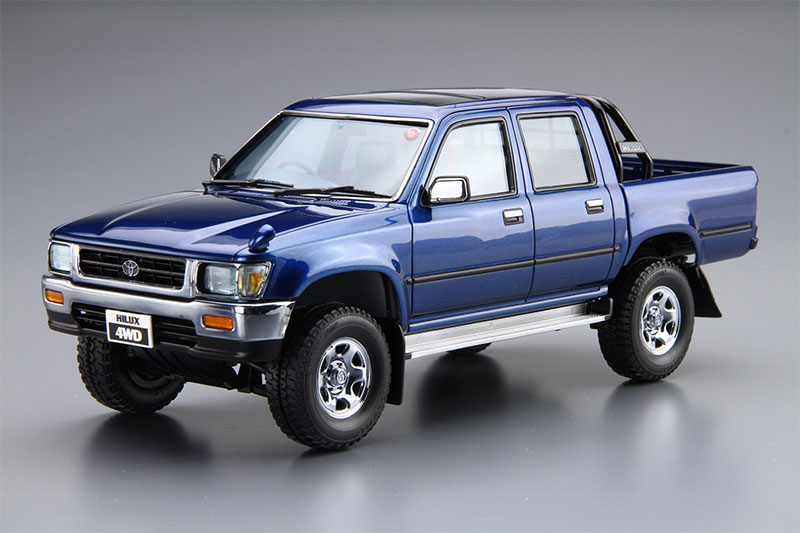 アオシマ プラモデル 1/24 ザ・モデルカー No.20 トヨタ LN107 ハイラックス ピックアップ ダブルキャブ4WD '94