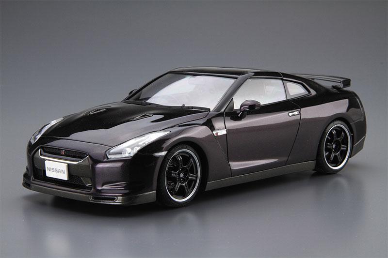 アオシマ プラモデル 1/24 ザ・モデルカー No.35 ニッサン R35 GT-R Spec-V '09