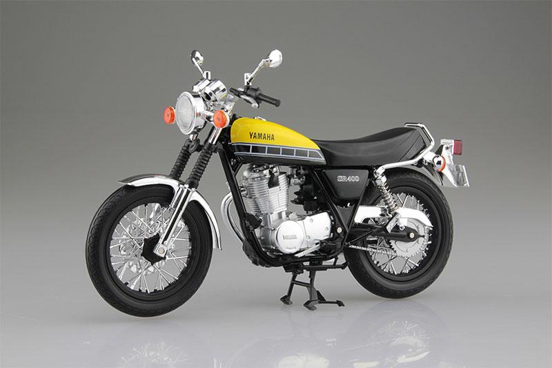 SKYNET 1/12 完成品バイク YAMAHA SR400 ライトレディッシュイエローソリッド