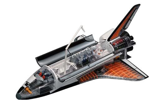アオシマ スカイネット 立体パズル 4D VISION ビークルカットモデル No.01 スペースシャトル