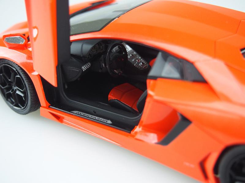アオシマ プラモデル 1/24 プリペイントモデル No.42 ランボルギーニ アヴェンタドール LP700-4 オレンジパール