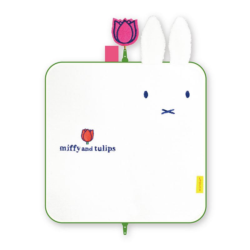 【ネコポス送料無料】 どっとポーチ ミッフィー ロング miffy and tulips BA 【代引き不可、他商品との同梱不可】
