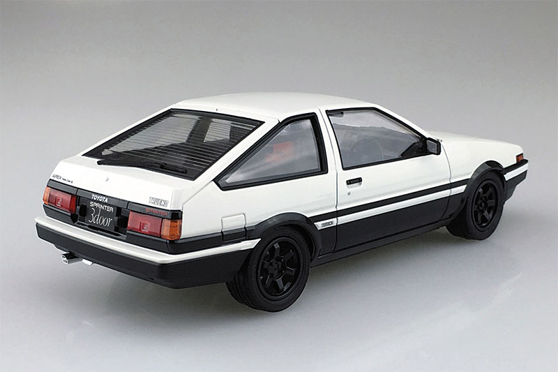 アオシマ プラモデル 1/24 プリペイントモデル No.SP トヨタ AE86 トレノ '83 ホワイト/ブラック