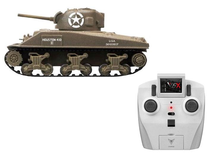 アオシマ プラモデル 1/72 赤外線対戦型R/C VSタンク M4シャーマン ID4 完成品