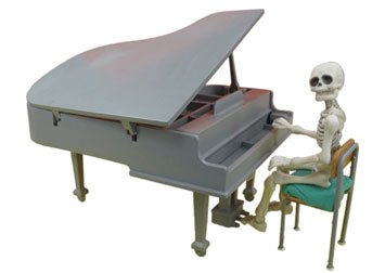 ポーズスケルトンアクセサリー グランドピアノセット