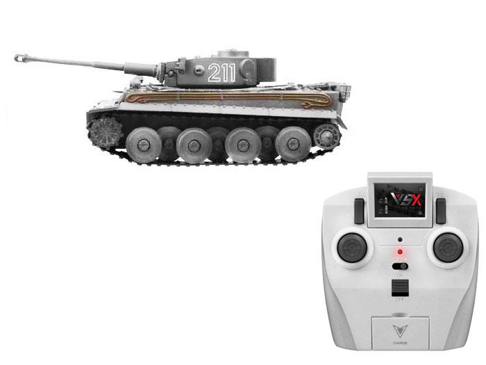 アオシマ プラモデル 1/72 赤外線対戦型R/C VSタンク タイガーI ID1 完成品