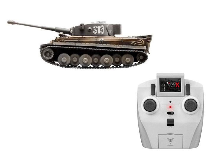 アオシマ プラモデル 1/72 赤外線対戦型R/C VSタンク タイガーI ID2 完成品