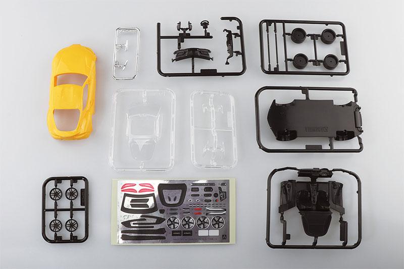 アオシマ プラモデル 1/32 ザ・スナップキット No.10-D トヨタ GR スープラ ライトニングイエロー