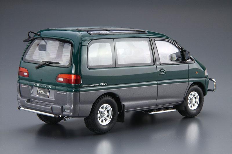 アオシマ 1/24 ザ・モデルカー No.96 ミツビシ PE8W デリカスペースギア '96