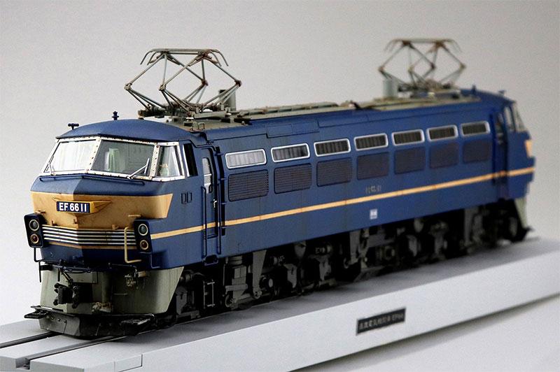 アオシマ 1/45 トレインミュージアムOJ No.5 電気機関車 EF66 前期型