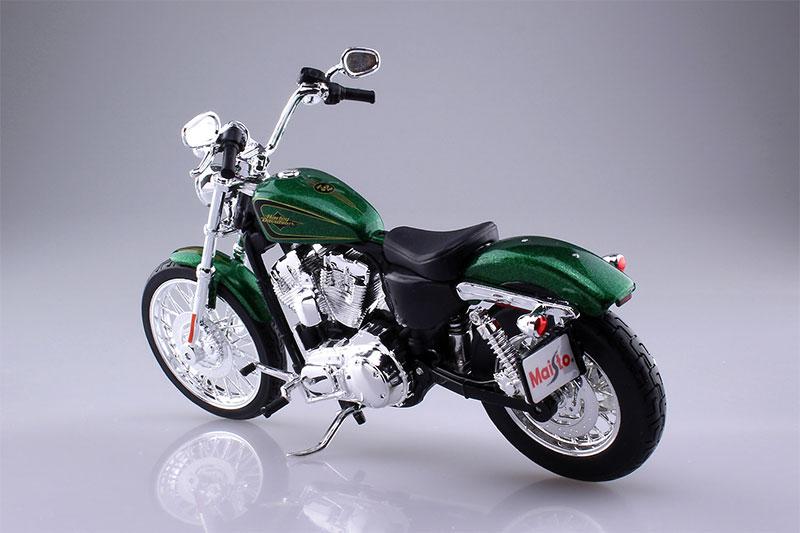 Maisto 1/12 完成品バイク HARLEY-DAVIDSON 2012 XL 1200V セブンティーツー グリーン