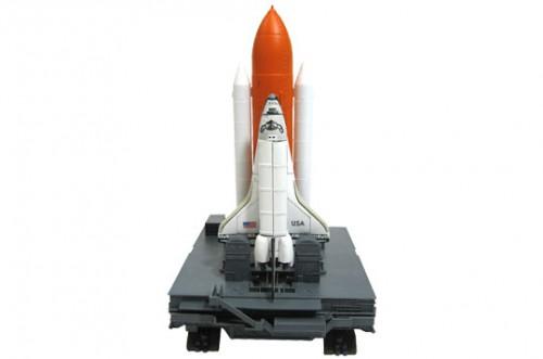 アオシマ 4D VISION 立体パズル No.2 4Dパズル 1/450 スペースシャトル&ブースター