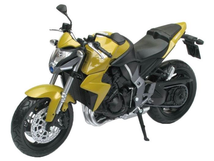 アオシマ プラモデル 1/12 完成品ダイキャストバイク Honda CB1000R イエロー