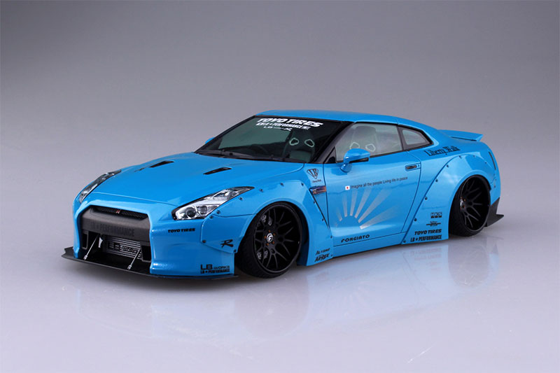 アオシマ プラモデル 1/24 リバティーウォーク No.9 LB★WORKS R35 GT-R Ver.1