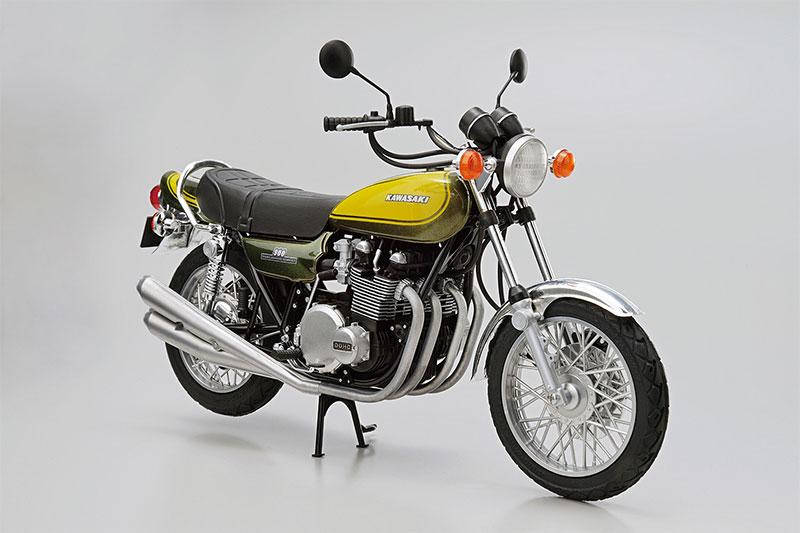 アオシマ プラモデル 1/12 ザ・バイク No.47 カワサキ Z1 900 SUPER4 '73 カスタムパーツ付き