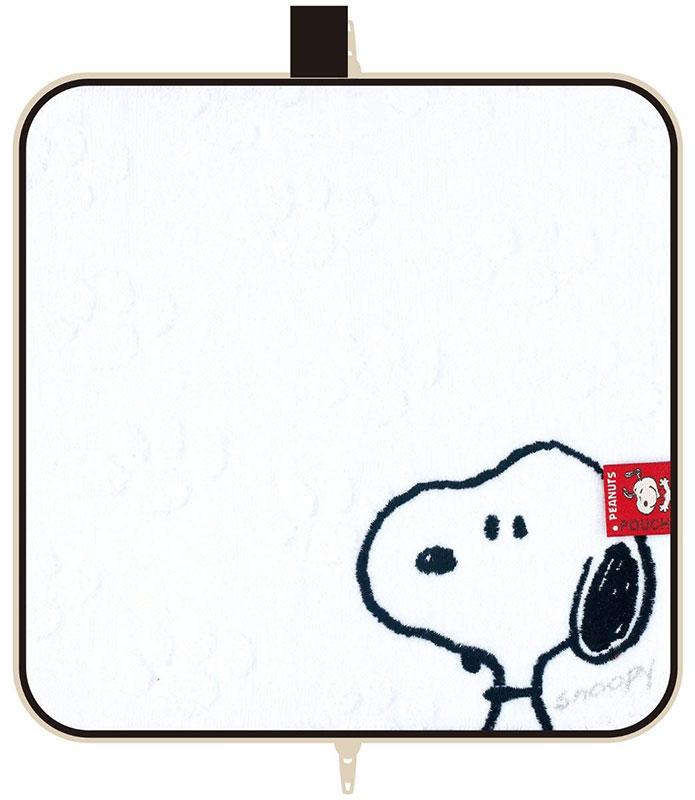 【ネコポス送料無料】 ファスナー付きタオル どっとポーチ スヌーピー シンプルホワイトAH 【代引き不可、他商品との同梱不可】