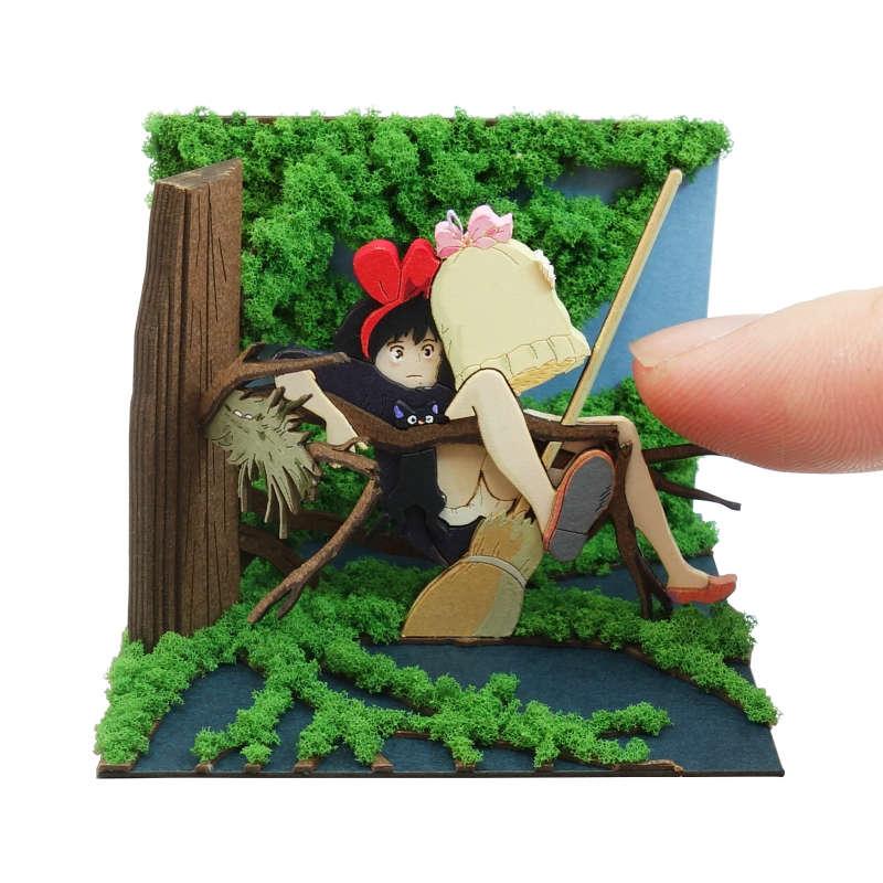 さんけい みにちゅあーとキット スタジオジブリmini 魔女の宅急便 森の中に落ちたキキ MP07-124