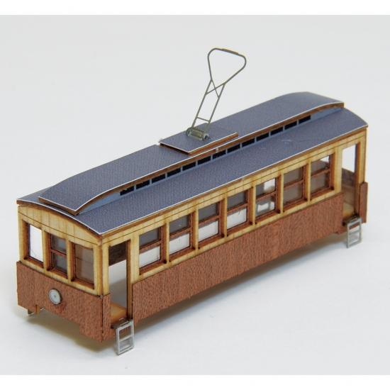 【ネコポス送料無料】 ウッディジョー 懐かしの木造電車&機関車 Nゲージ No.3 電車3 【代引き不可、他商品との同梱不可】