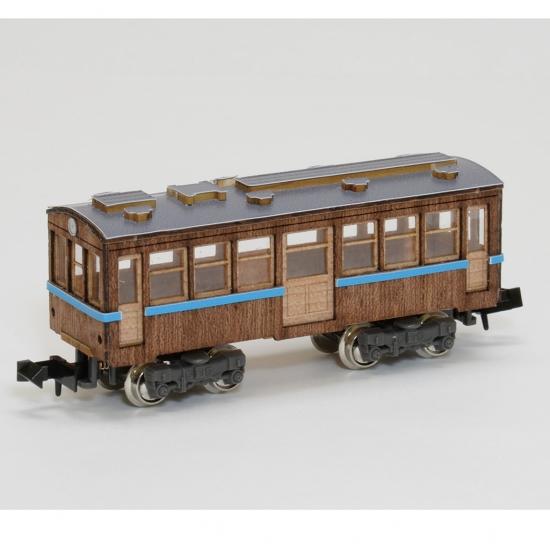 【ネコポス送料無料】 ウッディジョー 懐かしの木造電車&機関車 Nゲージ No.4 客車1 【代引き不可、他商品との同梱不可】