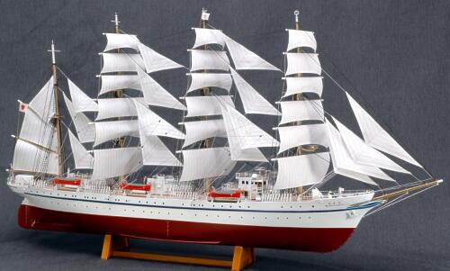 ウッディジョー 1/160 日本丸 帆付き