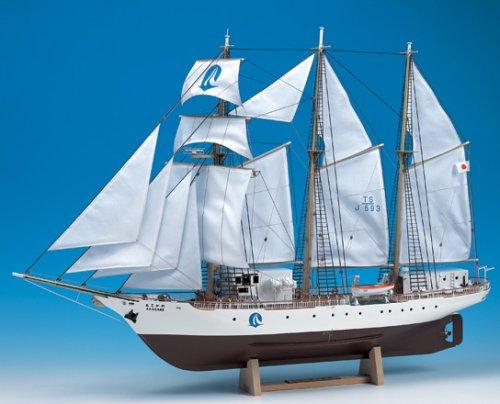 【送料無料】 ウッディジョー 木製帆船模型 1/75 あこがれ