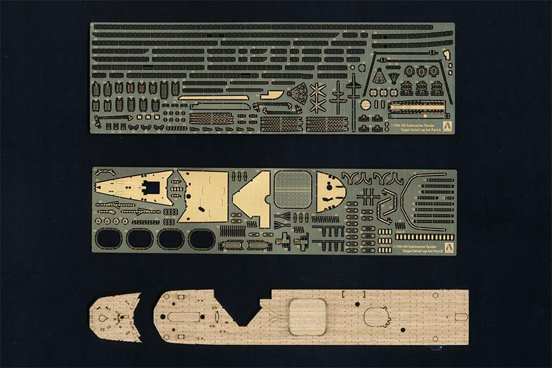 【ネコポス送料無料】 アオシマ 1/700 ウォーターライン ディテールアップパーツ 潜水母艦 大鯨専用エッチングセット 【代引き不可、他商品との同梱不可】