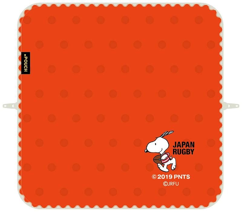 【ネコポス送料無料】 どっとポーチ ラグビー日本代表 スヌーピー レッド 【代引き不可、他商品との同梱不可】