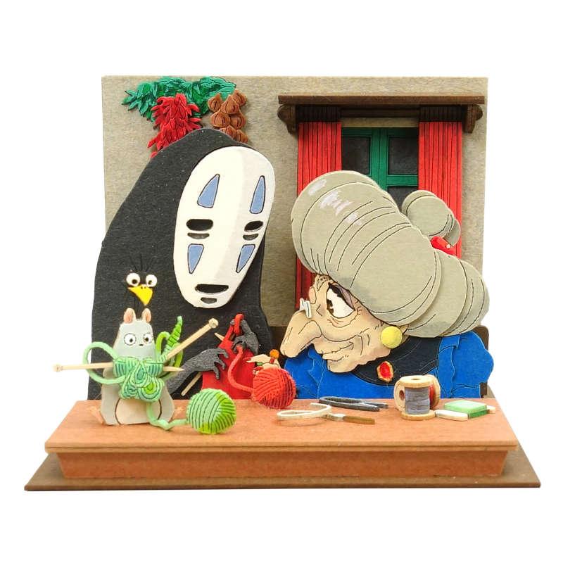 さんけい みにちゅあーとキット スタジオジブリmini 千と千尋の神隠し 銭婆と一緒に編み物 MP07-120