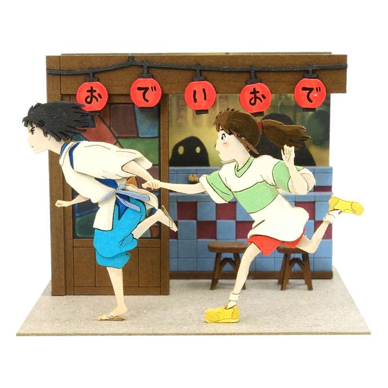 さんけい みにちゅあーとキット スタジオジブリmini 千と千尋の神隠し 走るハクと千尋 MP07-116