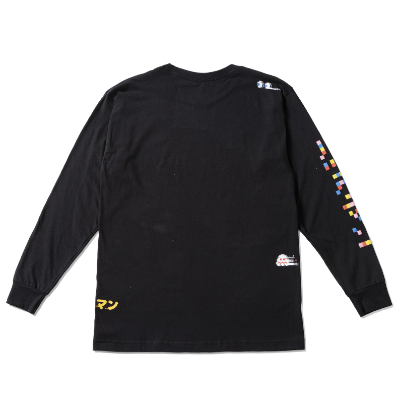 【SALE】BAIT x Pacman Glitch Long Sleeve Tee 197-PCM-TEE-004
