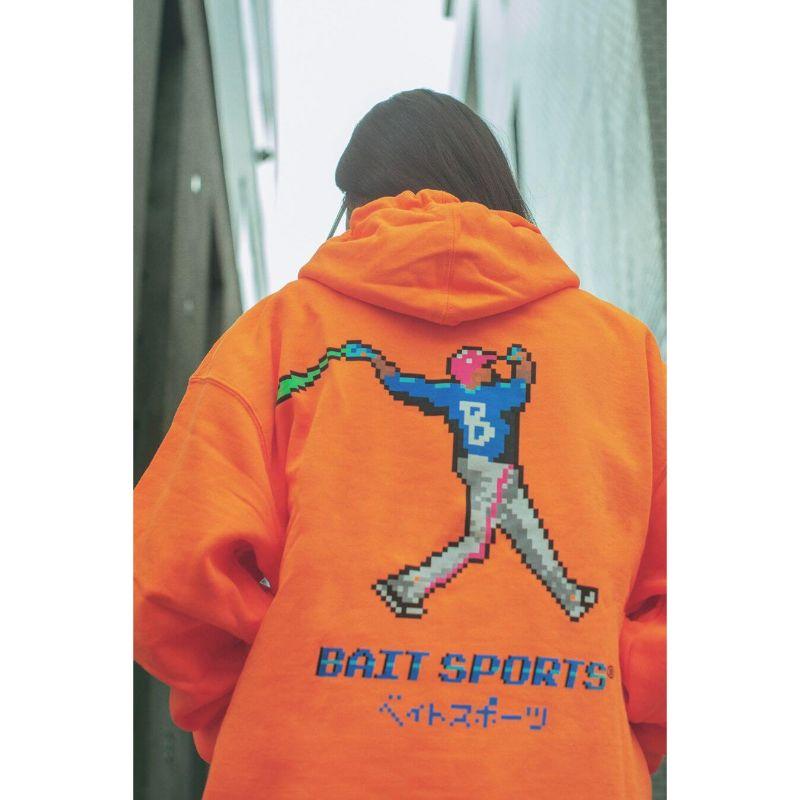 【SALE】BAIT 8BIT BASEBALL HOODIE - 206-BAT-PRK-001