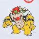 < スーパーマリオ BAIT MARIO BOWSER TEE  > - 216-SPM-TEE-003