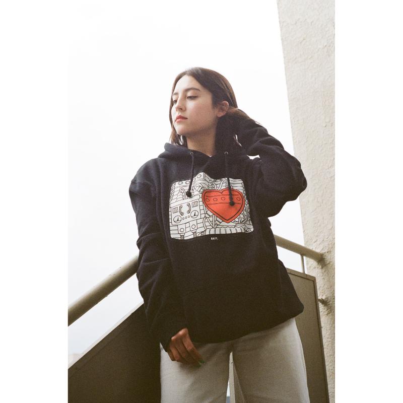 BAIT ASTRO BOY HEART HOODIE - 214-ASB-PRK-001
