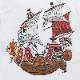 【オンラインサイト限定】BAIT ONEPIECE STRAWHAT SHIP LSTEE - 216-OPC-TEE-006