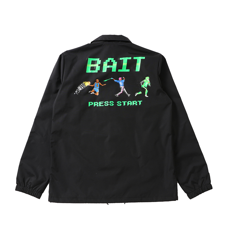 【SALE】BAIT 8BIT PRESS START COACH JACKET - 206-BAT-JKT-001