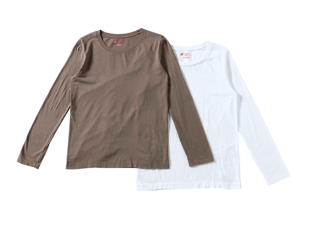 HANES 2P Hanes JP Fit for HER CネックLS T - HW5440