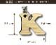 キーホルダー バンブー アルファベット 無地 キーホルダー プレゼント 子供 【送料無料】竹 木製 プチギフト   母の日 ギフトキーホルダー