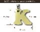 キーホルダー バンブー アルファベット 無地 キーホルダー プレゼント 子供【送料無料】ミラー 鏡 プチギフト   母の日 ギフトキーホルダー
