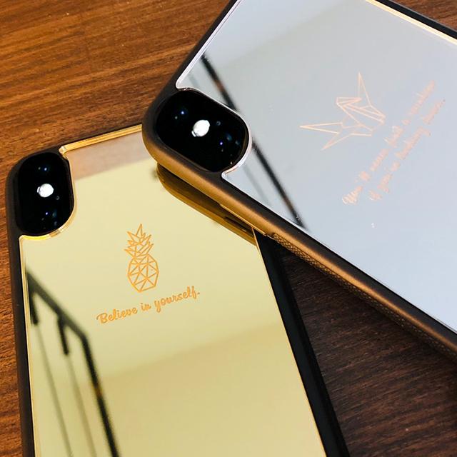 ミラー オリガミケース iphone 割れない鏡[S] 名入れ無料 送料無料 アイフォン ケース iPhone 11ProMax iPhone XS Max iPhone XR iPhone8 折り紙 origami case