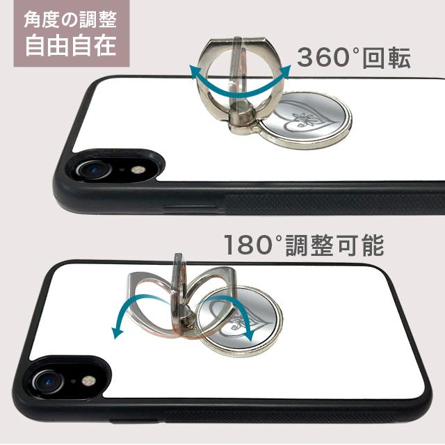 【送料無料】割れない鏡 トロピカル ミラー リングスタンド リング スタンド バンカーリング スマートフォン スマホ タブレット 落下防止 全機種対応 iPhone