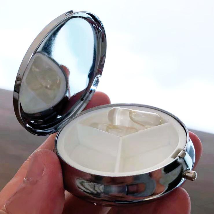 ピルケース トロピカル かわいい 携帯 ミラー オリジナル 文字入れ ロゴ 割れない鏡 アクリルミラー 名入れ無料 送料無料 文字入れ 彫刻 プレゼント